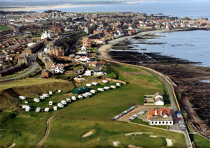 1970s aerial view Dunbar to